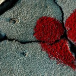 heart on concrete